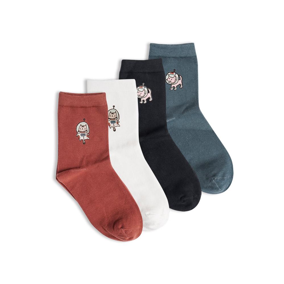 独立包装太空旅行猫狗宠物系列女袜券后9.80元