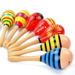 【木质沙锤】大号中号木制卡通沙锤沙球婴幼儿童乐器早教益智玩具
