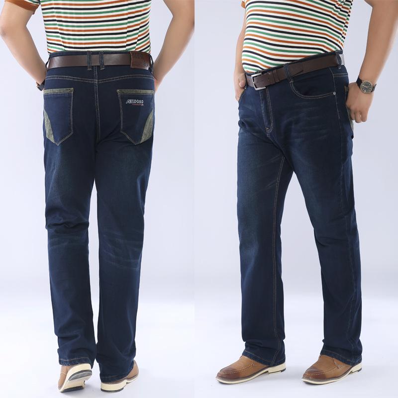 肥胖男士牛仔长裤超大码男式牛仔裤男式宽松加肥加大码牛仔裤
