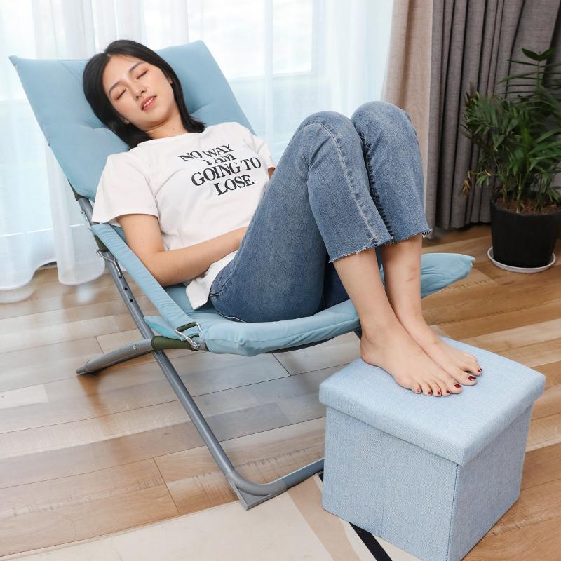 居家卧室折叠椅简易小型躺椅办公室午睡午休阳台纳凉懒人便携超轻满60元可用2元优惠券