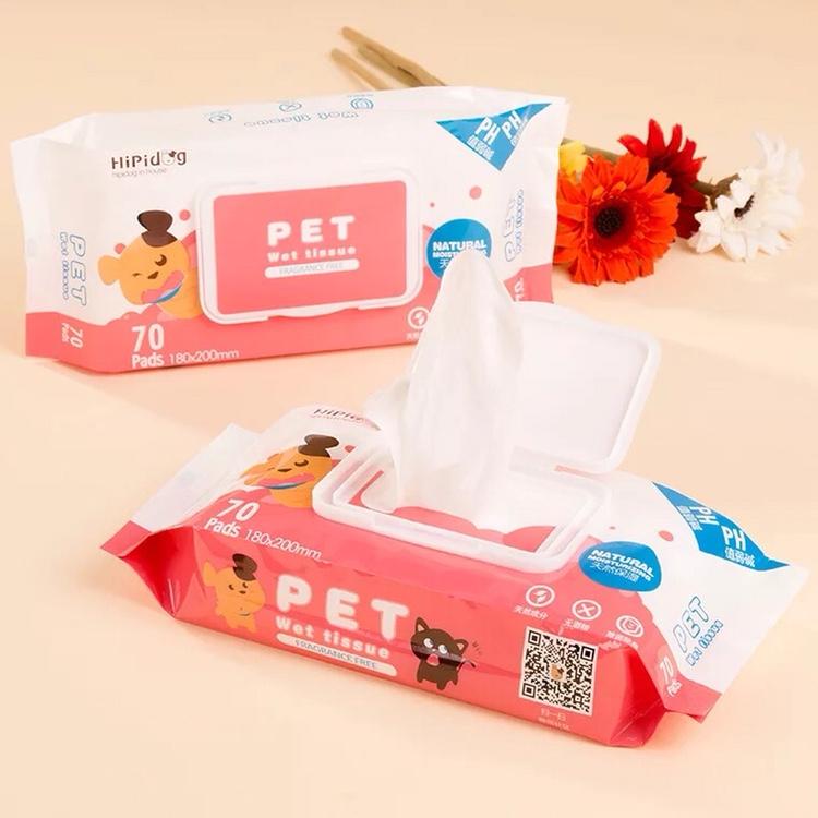 宠物专用湿纸巾猫咪狗狗湿巾清洁宠物湿巾夏季小狗用品拍3件28元