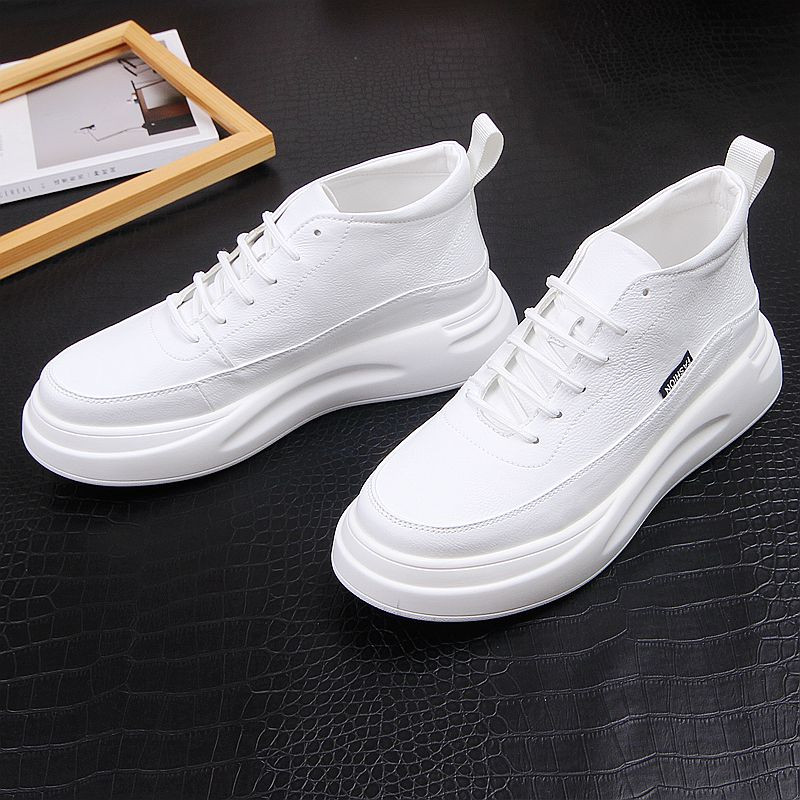 Global fashion brand retro mens shoes day series small white shoes with thick soles