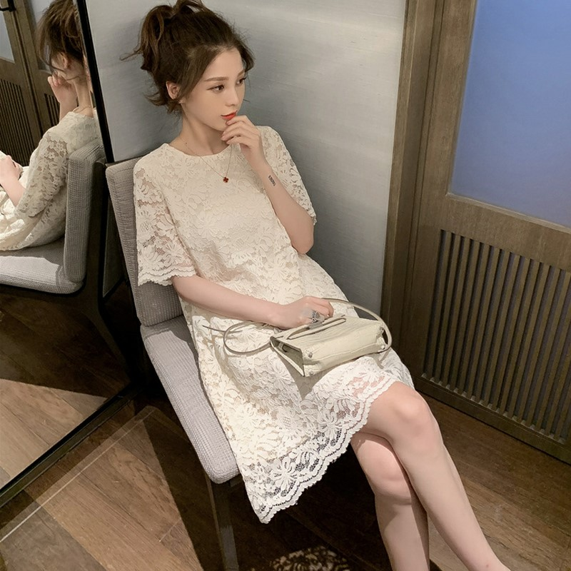 2020 summer new lace dress fairy super fairy sweet temperament thin Zhixun French style retro Platycodon skirt