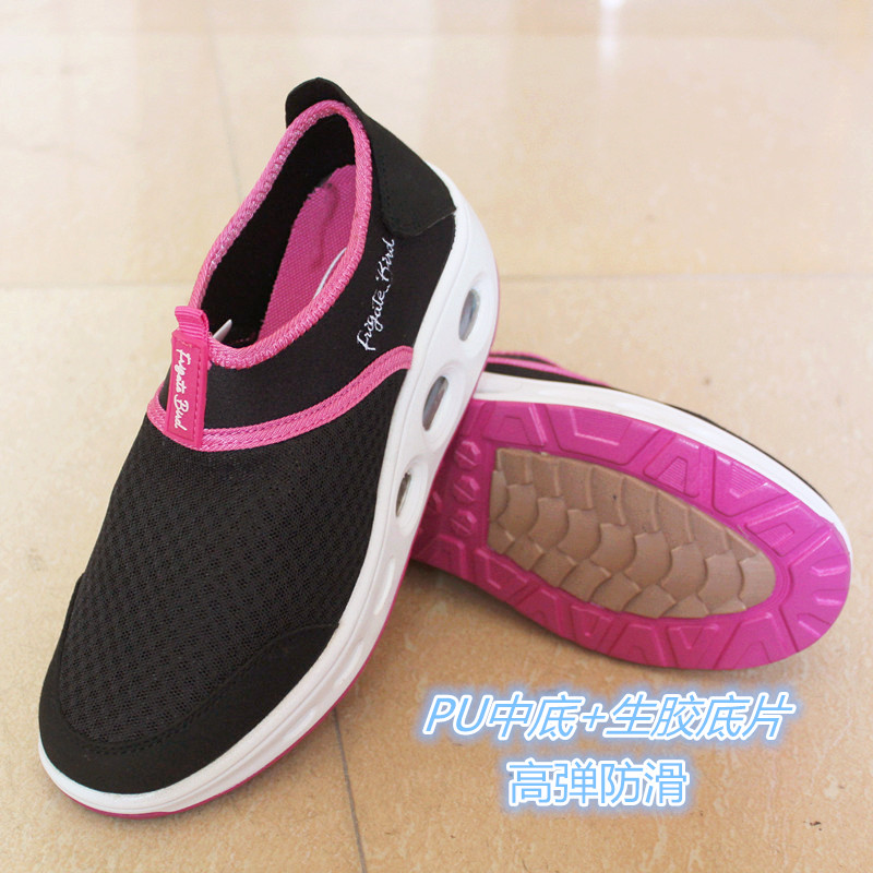 2018 summer breathable mesh muffin shaking shoes, thick soles, high rise tourist shoes, sports and leisure single womens shoes clearance