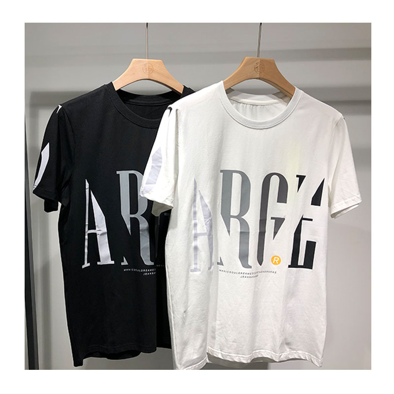 Mens T-shirt 2020 new summer mens short sleeve loose letter printing youth trend round neck versatile mens top