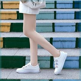 懒人季初中学生平底皮面子女大童休闲小白鞋少女运动单鞋黑色板鞋图片