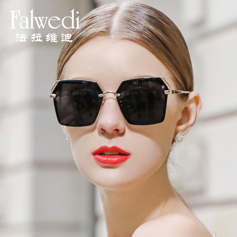 10-09新券女偏光防紫外线圆脸时尚潮人太阳镜