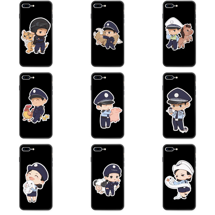 Suitable for opporeno2z mobile phone case 10 times aec2 / 3pro military case police traffic police cartoon