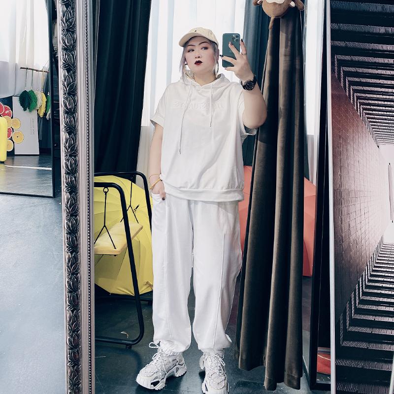 夏装减龄大码女装韩版200斤t恤