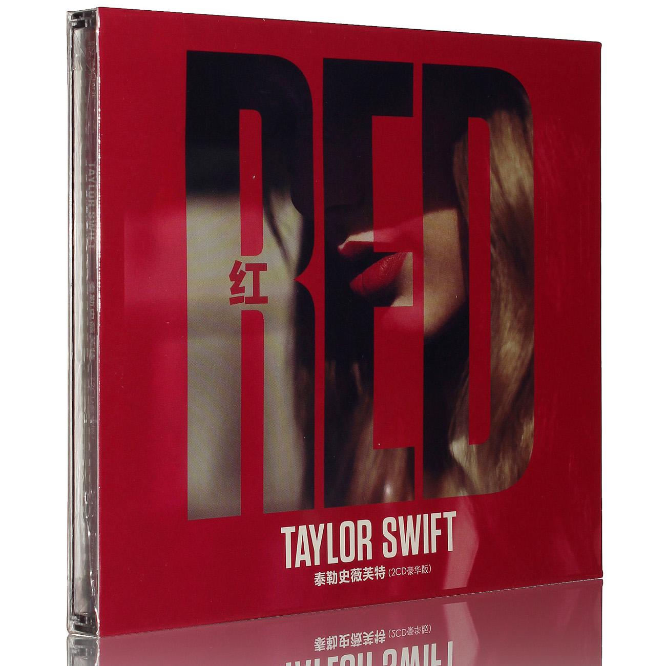 正版 霉霉 泰勒斯威夫特�]� taylor swift red 2CD+歌�~本 歌曲