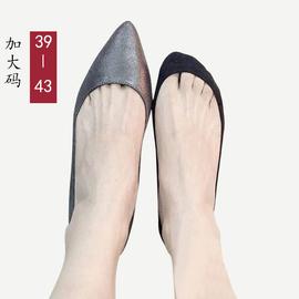 超浅口船袜女夏特大码39-44冰丝隐形袜配高跟鞋瓢鞋单鞋的袜子薄图片