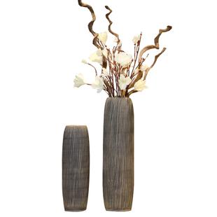 陶瓷花瓶擺件復古中式細高陶罐乾花插花大號落地花瓶玄關客廳裝飾