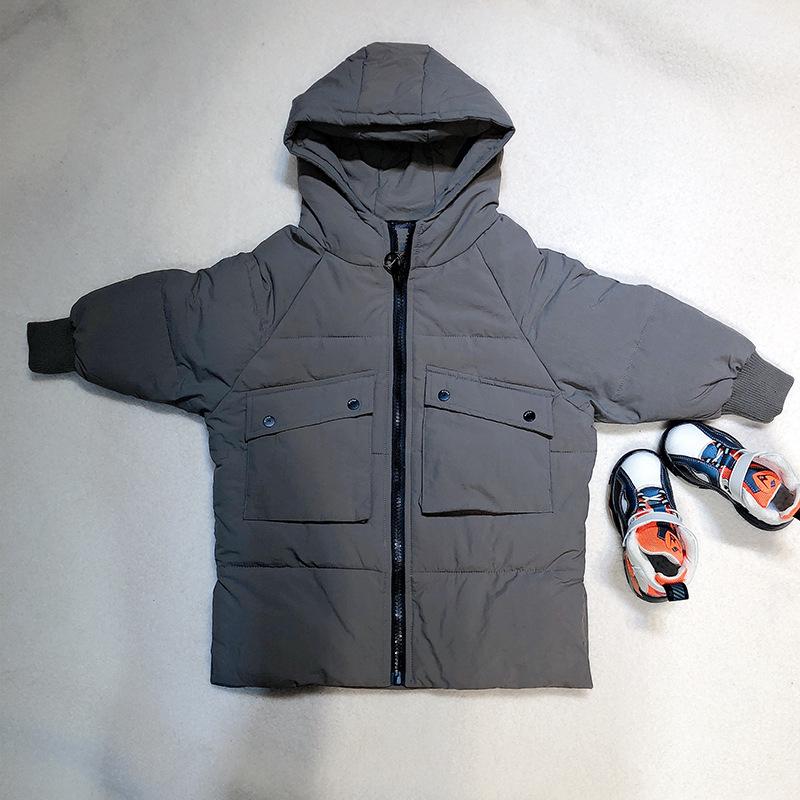 Autumn winter universal Korean hooded down jacket cotton short zipper shirt round neck cotton inner jacket