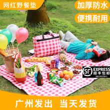 野餐垫春游网红防潮垫子加厚户外便携地垫草坪防水野餐布郊游用品