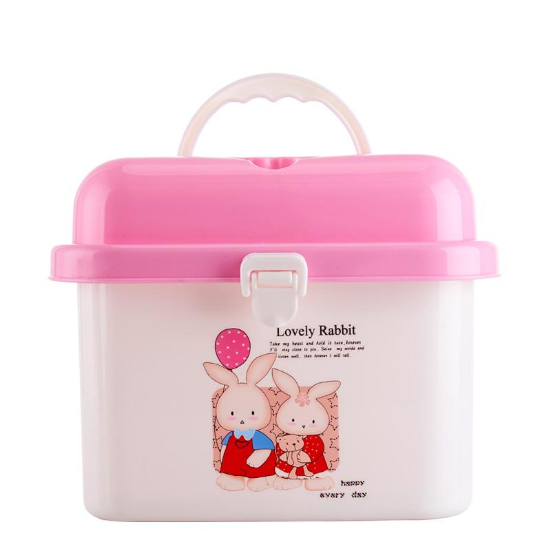邦貝小象便攜式奶瓶收納箱多 收納盒嬰兒餐具存儲箱防塵抗菌箱