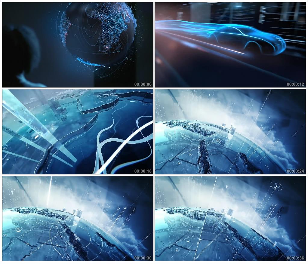 56-未来科技移动信息发展商务化大数据时代地球屏幕背景视频素材-视频素材-sucai.tv