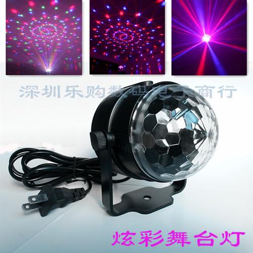 Спеццена новинка кристалл магия мяч LED этап освещение KTV лазер свет свадьба бар пакет дом фонарь со звуком контроль