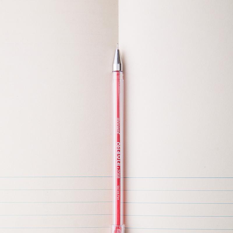 佳美文具 慕娜美monami2068 简约小清新0.38mm六色透明方杆中性笔