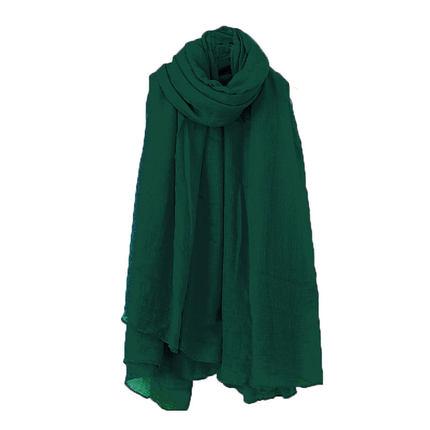 棉麻冬季韩版薄红色丝巾