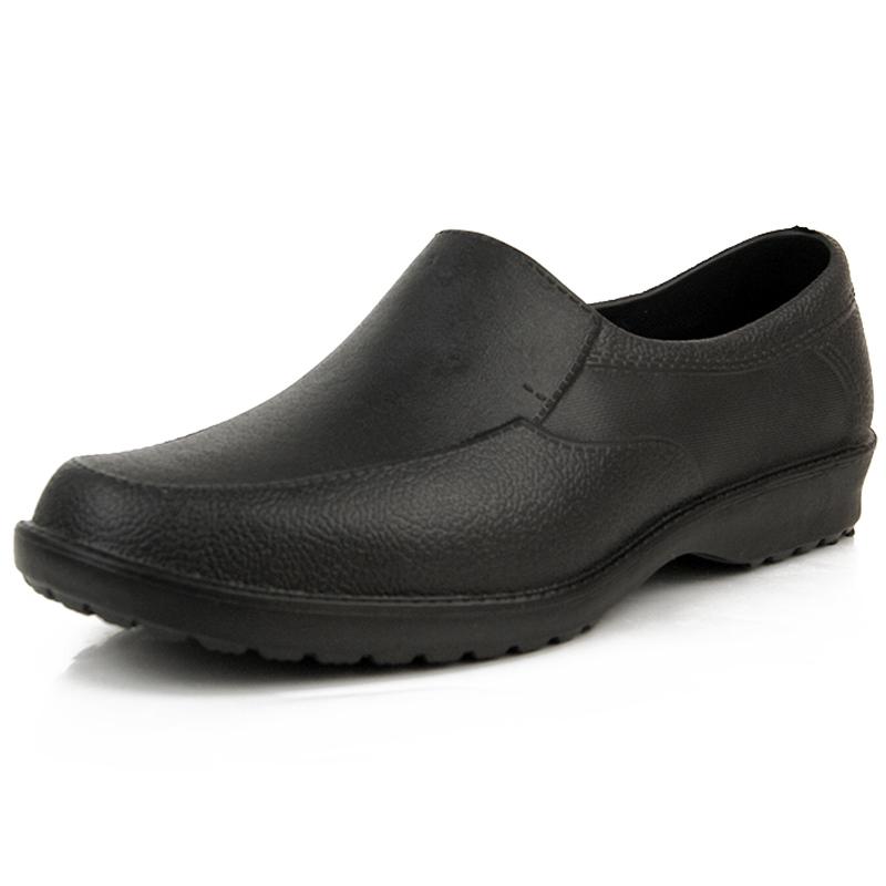 春秋男士廚師雨鞋低幫防水鞋皮鞋 套鞋短筒膠鞋廚房工作水鞋夏