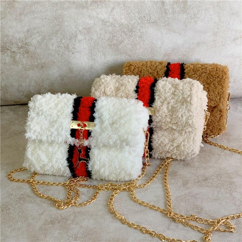 泫雅同款手工编织包珊瑚绒毛线网格自制diy材料包毛绒单肩斜挎包