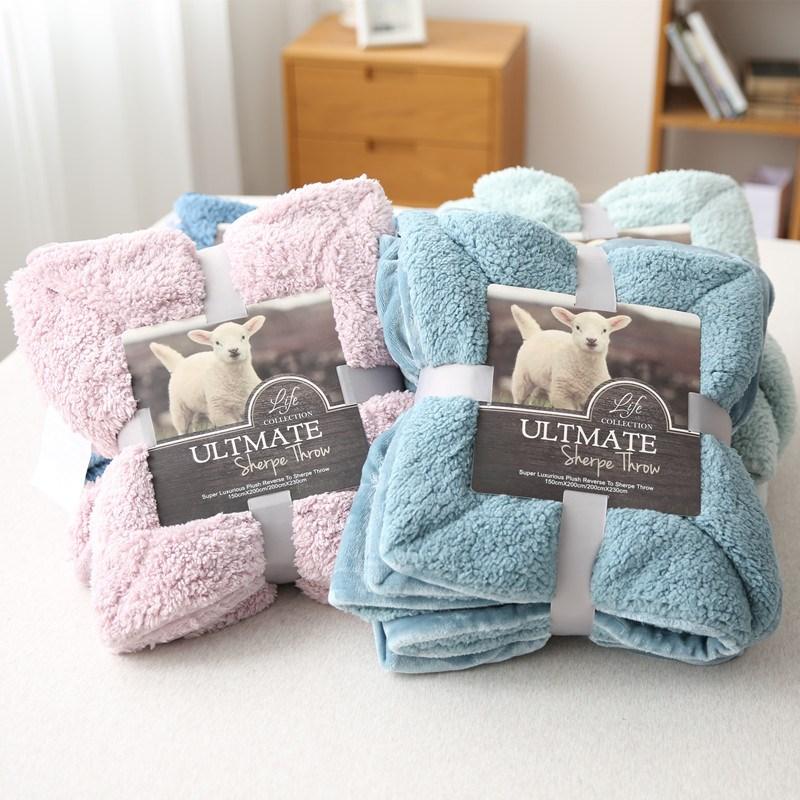 绒毯仿羊羔绒加厚双层冬季毛毯单双人盖毯床盖午睡毯子