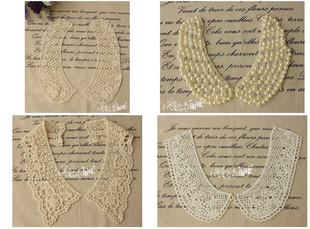 Handmade DIY clothing accessories day single lace cotton lace flower collar false collar water net yarn Lace