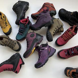 断码清仓情侣真皮户外登山鞋防水耐磨防滑徒步鞋男女越野爬山鞋靴