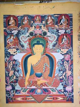 爱西藏宗教用品民族特色精美唐卡收藏投资工艺美术大师畅销款包邮