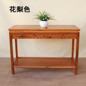 实木长条桌子客厅中式边桌老榆木茶几靠墙窄边桌简约仿古角几边几