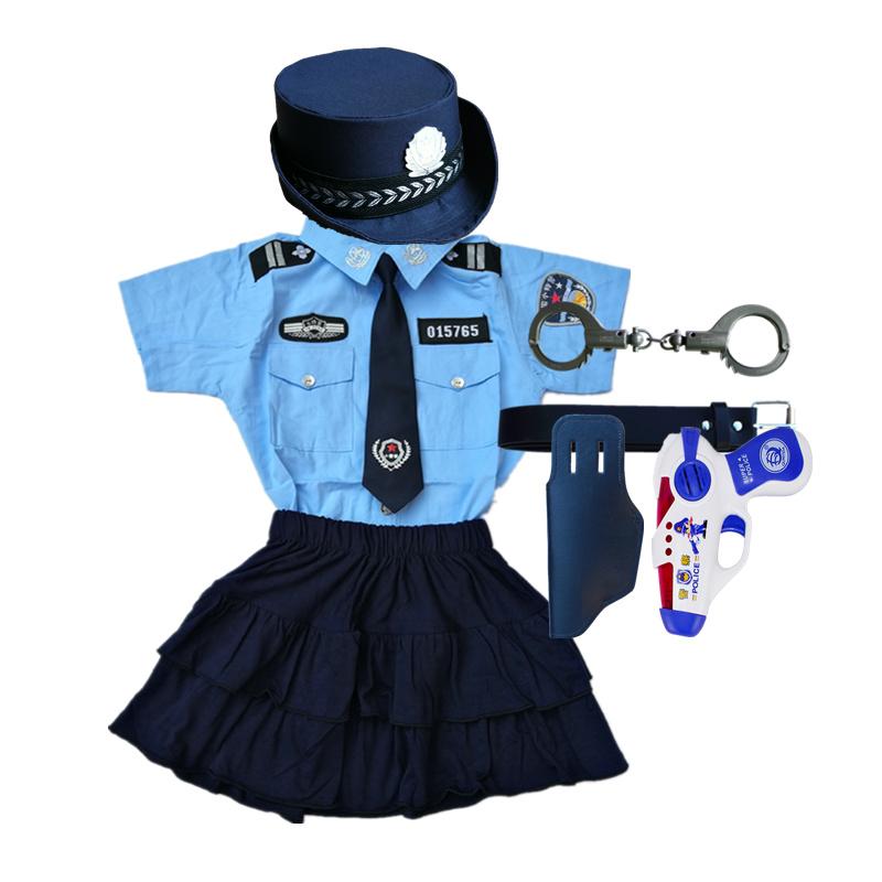 六一儿童小警察小交警制服套装男女童职业扮演装备黑猫警长演出服