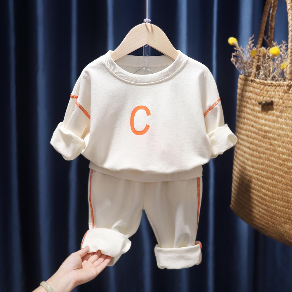 宝宝纯棉套装儿童运动休闲卫衣2020新款春秋装男女童洋气两件套潮