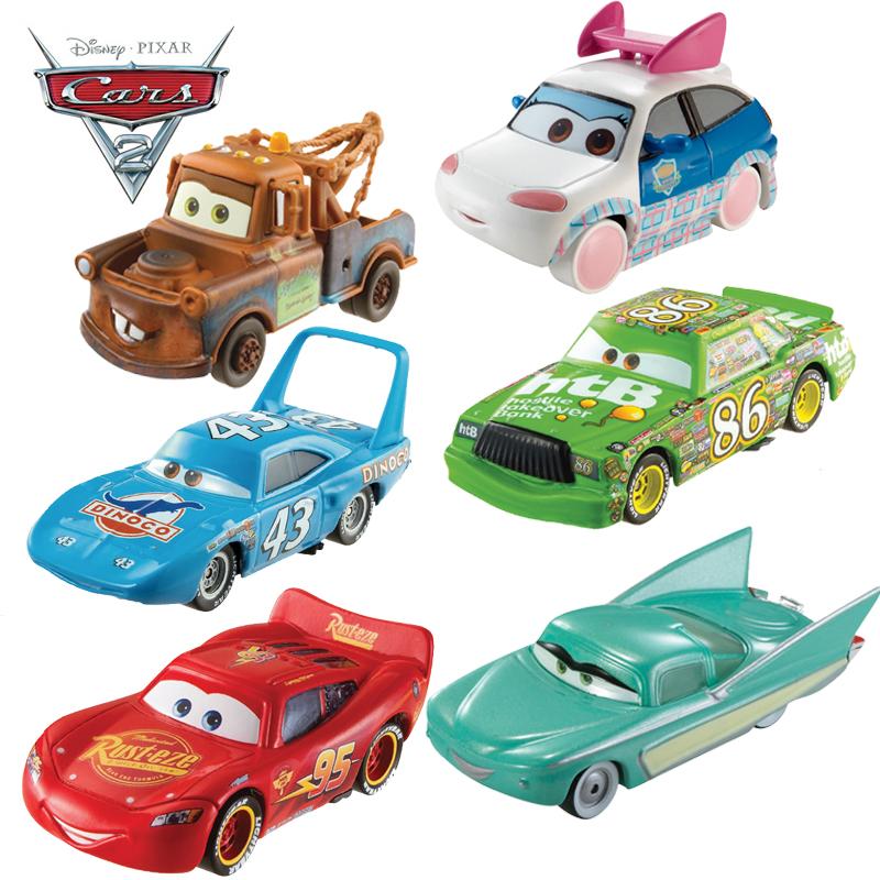 美泰正版 赛车总动员2 汽车总动员Cars 极速挑战合金车男孩玩具