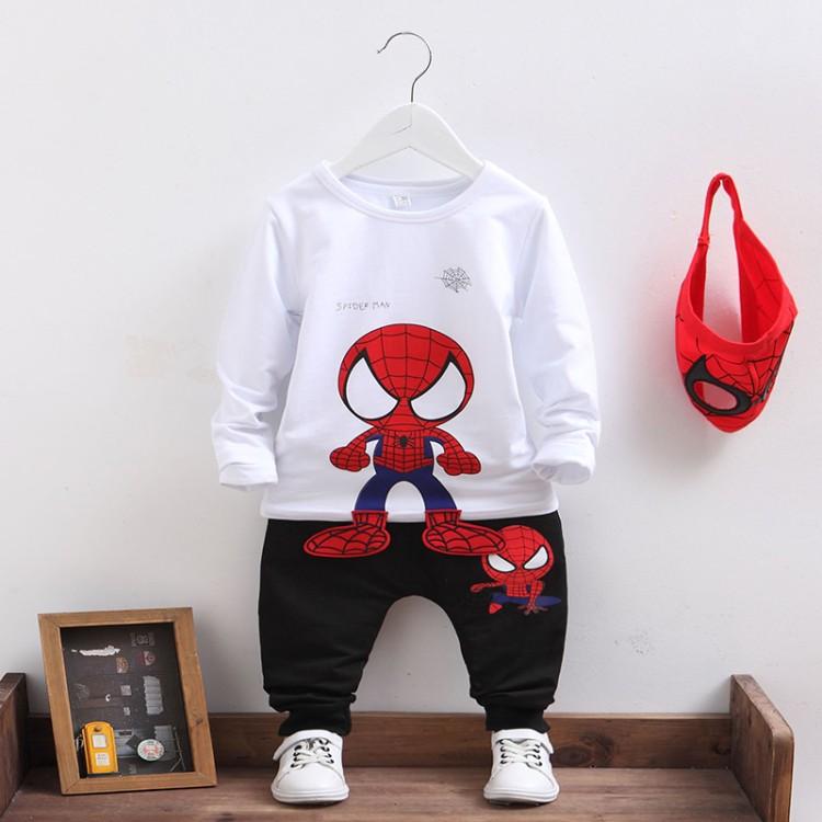 儿童蜘蛛侠衣服男童秋装奥特曼童装男孩两件套装春秋长袖纯棉图案限时2件3折