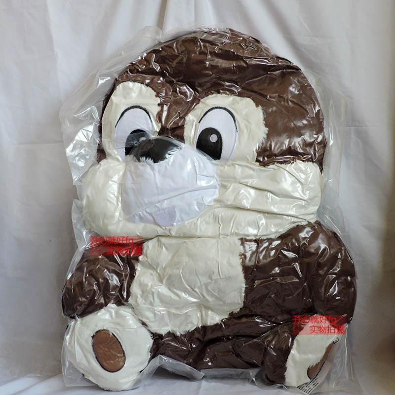 萌趣抱枕松鼠兄弟靠垫玩偶娃娃造型花栗鼠毛绒玩具奇奇蒂蒂公仔