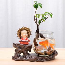 创意大号花瓶摆件客厅插花玻璃透明陶瓷北欧水养花盆干花插花花器图片