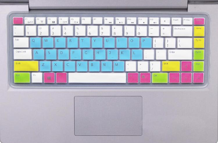 神舟优雅A480B-M10D6键盘保护贴膜14英寸电脑笔记本全覆盖防尘套罩非夜光发护按键凹凸透明硅胶彩色可爱卡通
