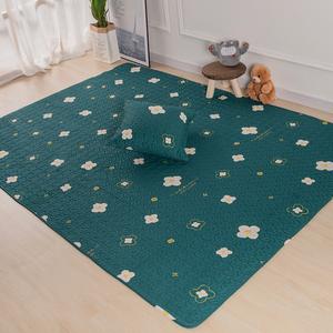 北欧纯棉布艺地垫宝宝爬行垫儿童游戏垫床边防滑地毯榻榻米飘窗垫