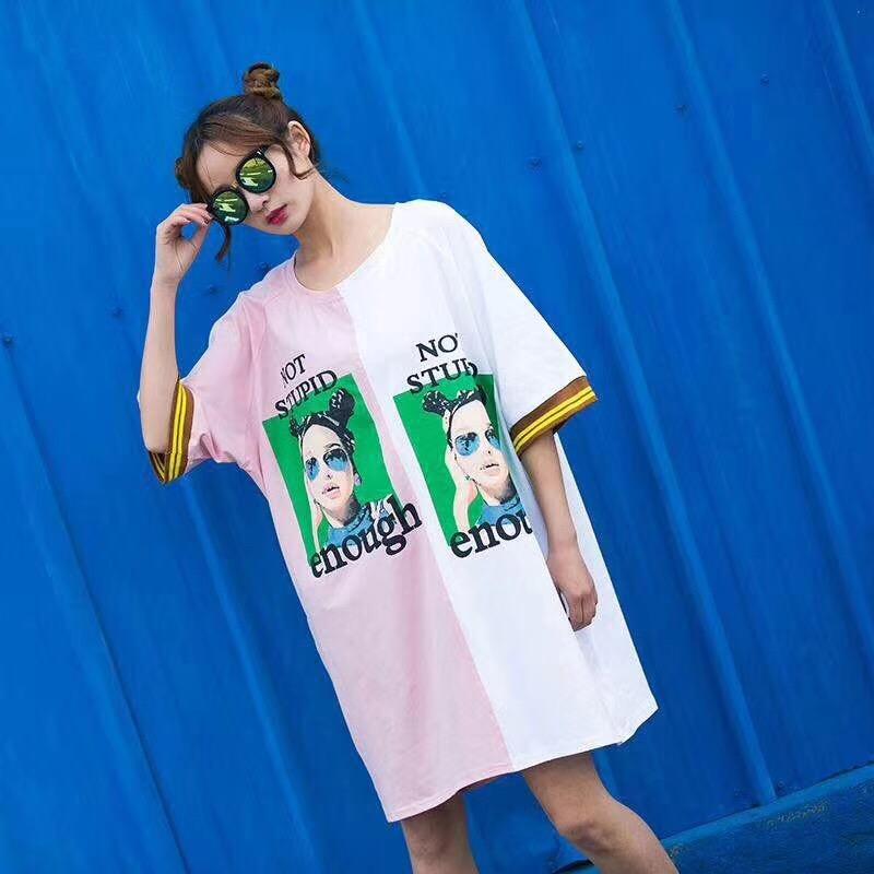 超火的慵懒风女人头蝙蝠衫夏装t恤热销0件正品保证