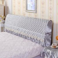 Полностью пакет прикроватный накладка Чехол на кровать пыленепроницаемый накладка 1,5м1,8м простой подарок поколение Кожаная кровать мягкая пакет Скрепка хлопок Защитный чехол