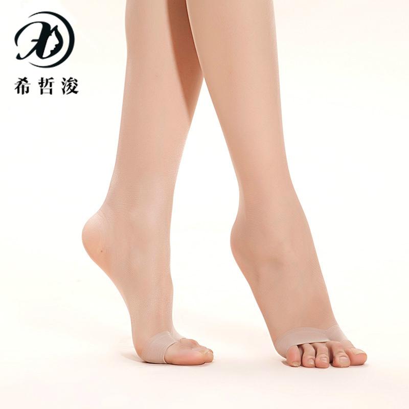 希哲浚6双装打底袜鱼嘴袜子女露脚趾夏 防勾丝薄款美腿袜瘦腿塑形