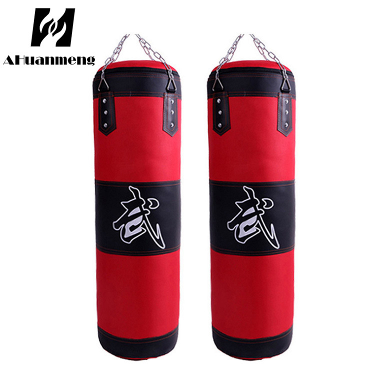 Boxing leather hanging type hollow sandbag Sanda fighting childrens home fitness powder Leather Sling Bag Factory direct sales