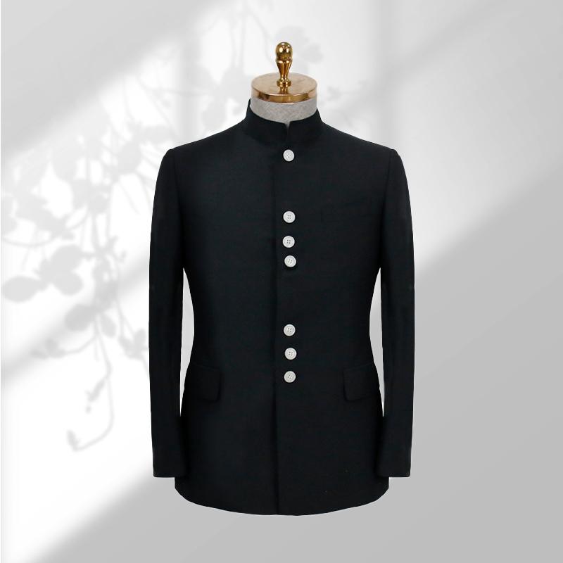 傲饰男士西装中山装套装青年修身中式婚礼礼服中国风立领唐装新款