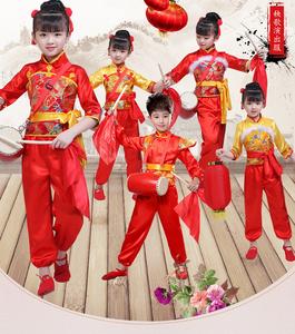 儿童打鼓服中国风腰鼓队服装说唱