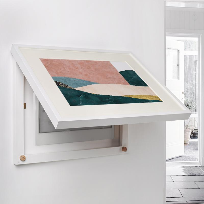 (用44.5元券)星川 北欧抽象强电表箱装饰画可翻盖免打孔电器盒遮挡挂画 卡夫卡