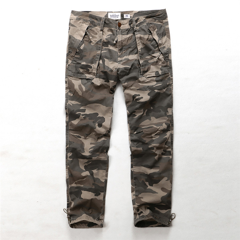 Camouflage casual pants mens autumn and winter cotton multi bag pants casual overalls Security Work Pants Large