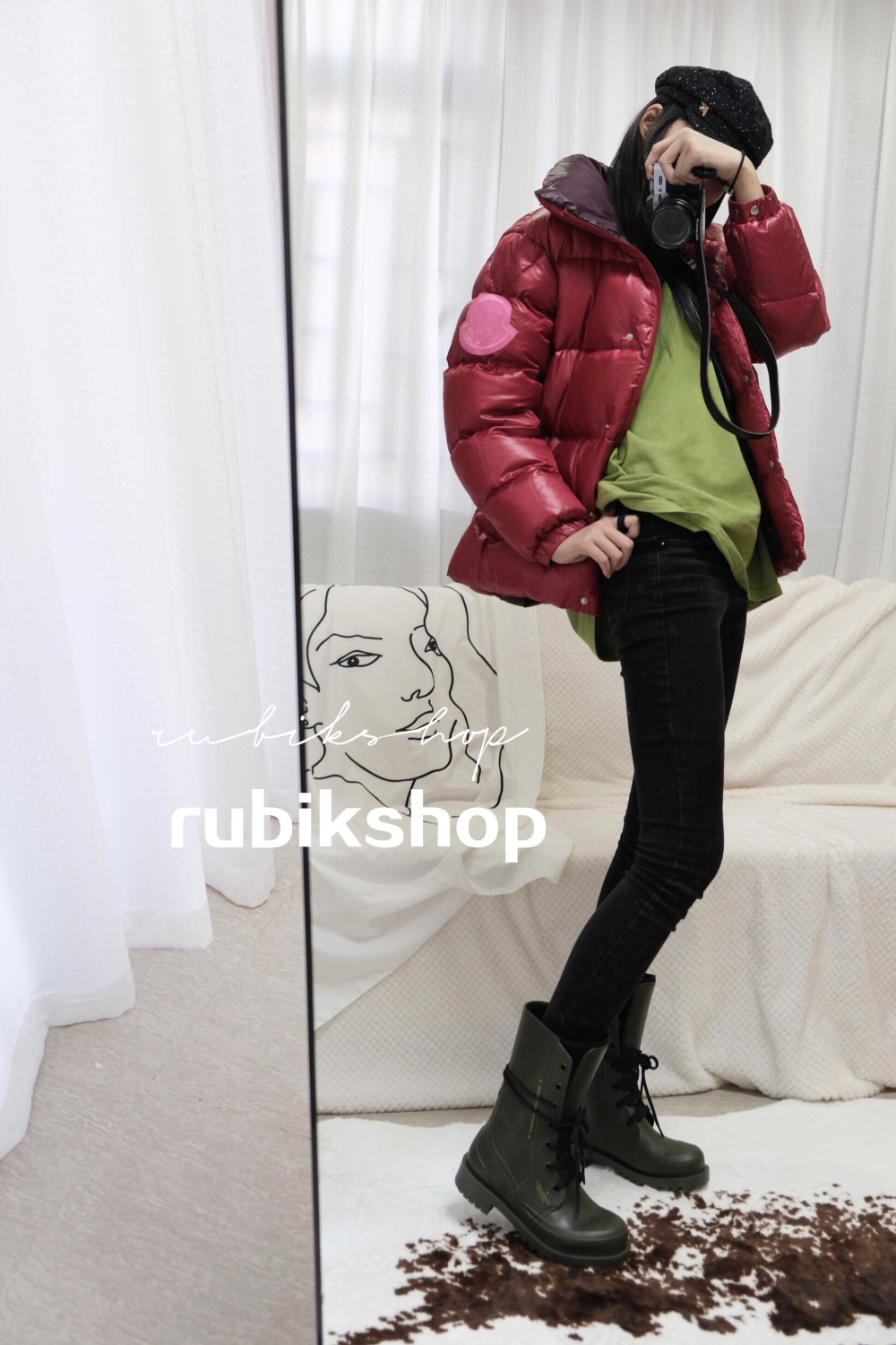 Rubikmonster two-way shouldered down jacket for warmth and love