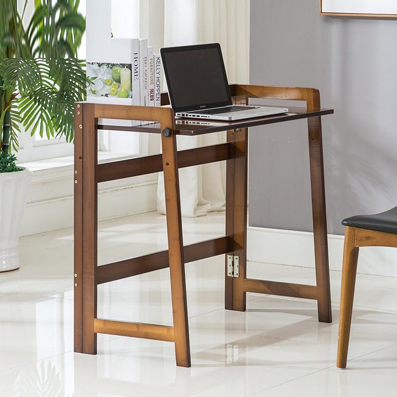 竹雅荟楠竹台式现代简约宿舍折叠电脑桌写字办公家用实木书桌桌子