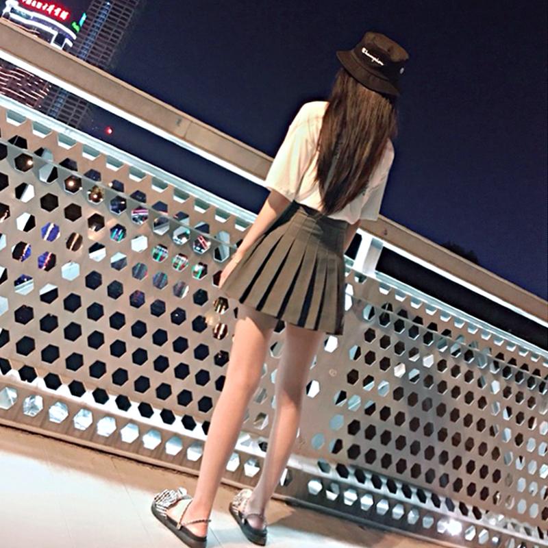 Pleated skirt skirt womens spring and summer 2020 new high waist ins super fire A-line skirt net red skirt college style