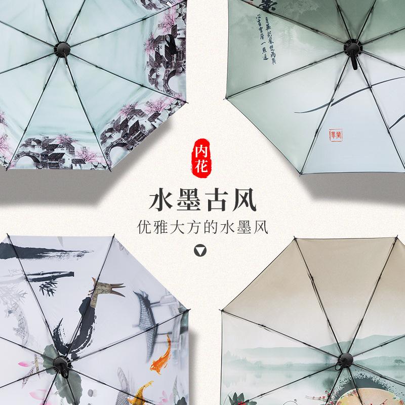 限3000张券七夕情人节生日礼物折叠防晒太阳伞